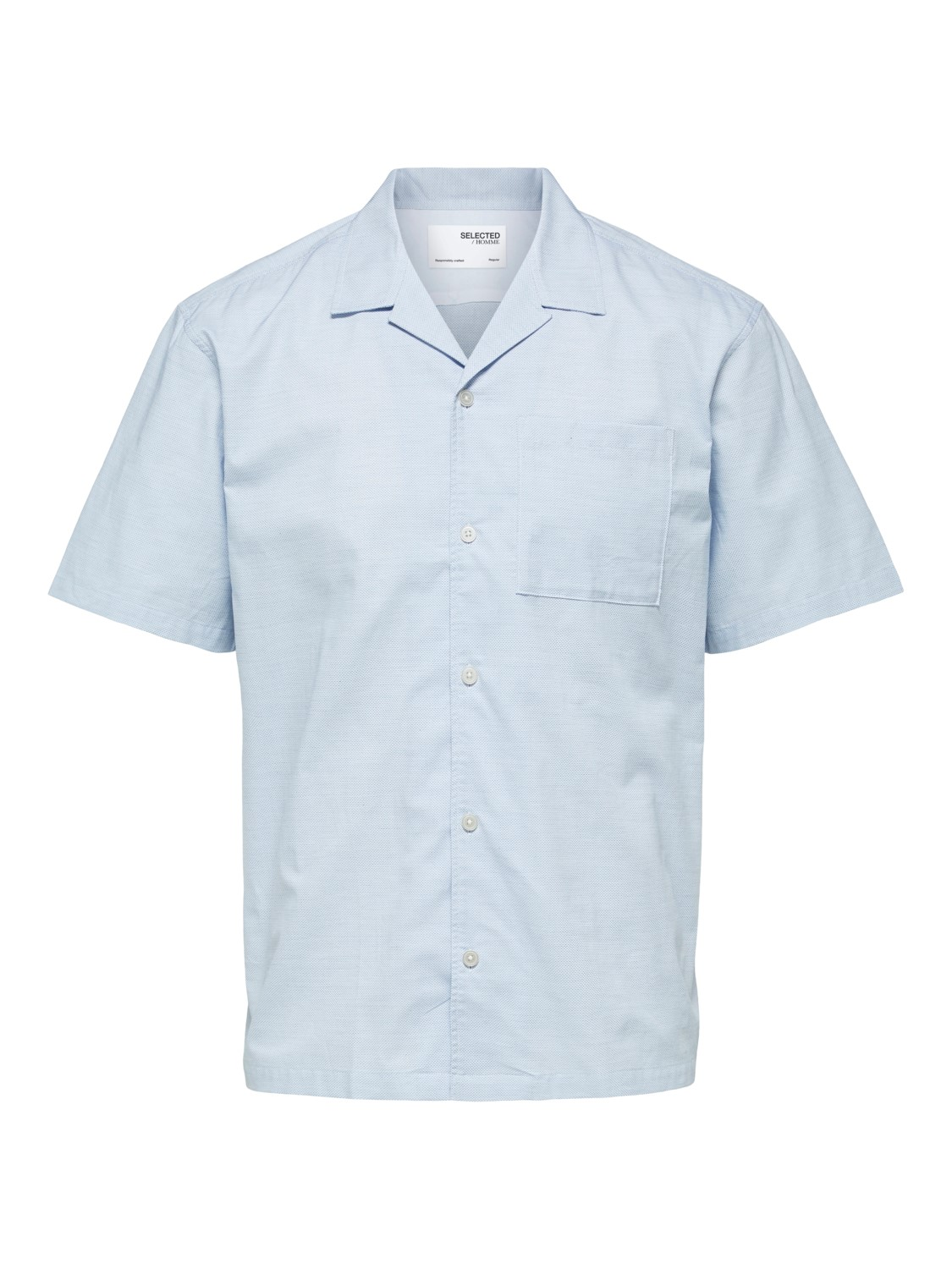 Selected Skjorte - SLHRELAXWADE SHIRT BLUE MELANGE | Gate36 Hobro