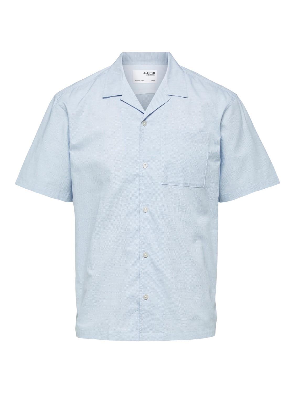 Selected Skjorte - SLHRELAXWADE SHIRT BLUE MELANGE | Gate36 Hobro