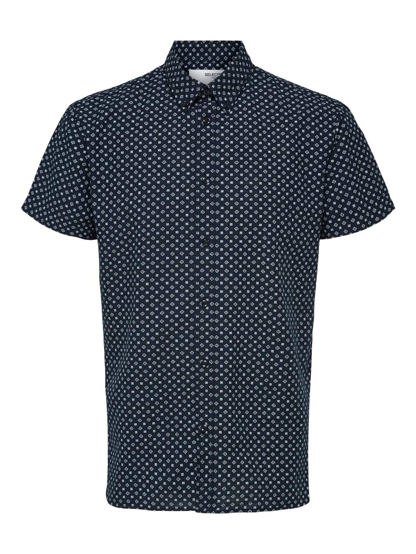 Selected Skjorte - SLHSLIMHART SHIRT DARK BLUE | Gate36 Hobro