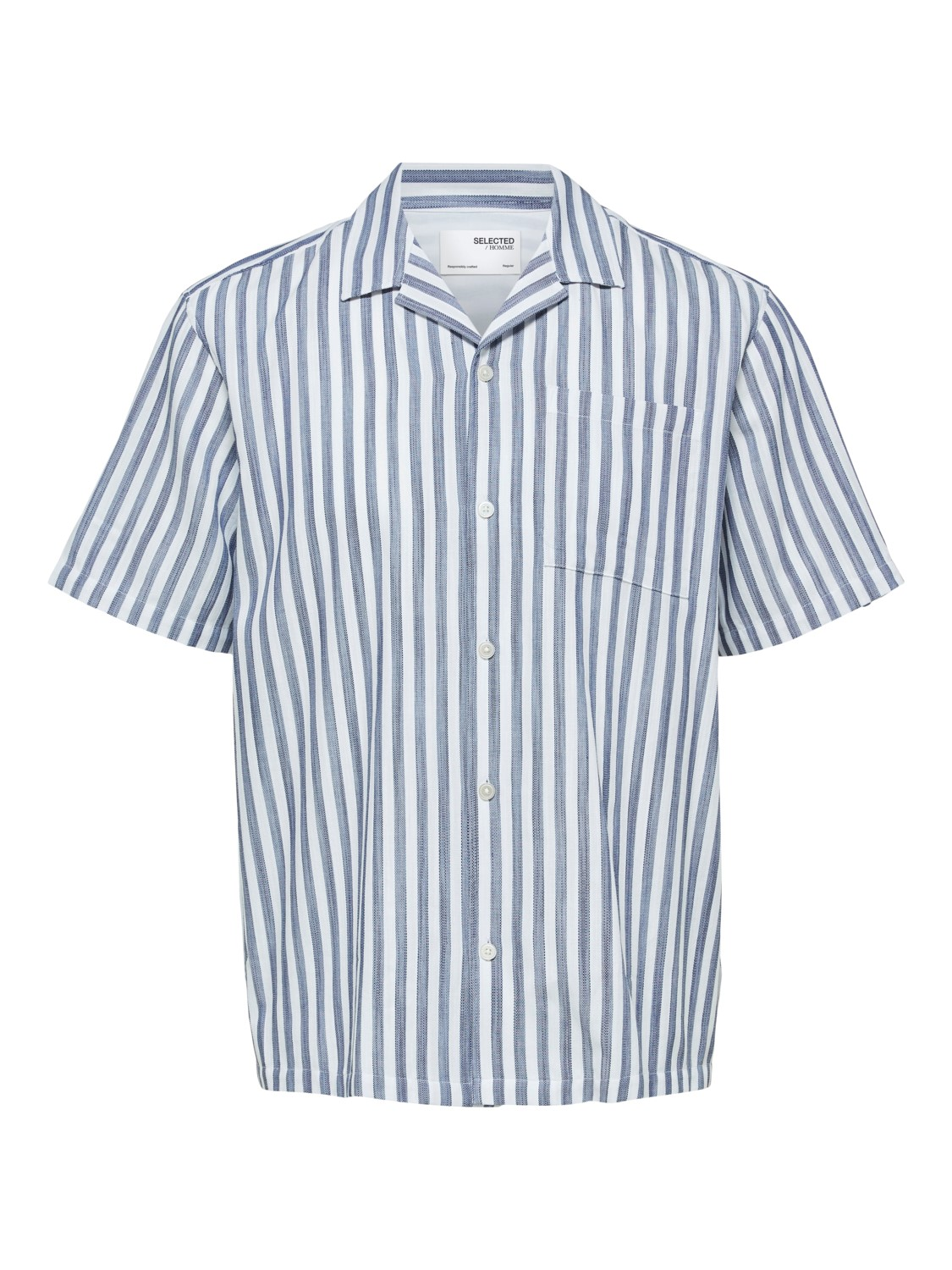 Selected Skjorte - SLHRELAXWADE SHIRT STRIPES | Gate36 Hobro