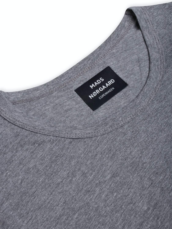Mads Nørgaard T-Shirt - Box Logo Grey | GATE 36 Hobro