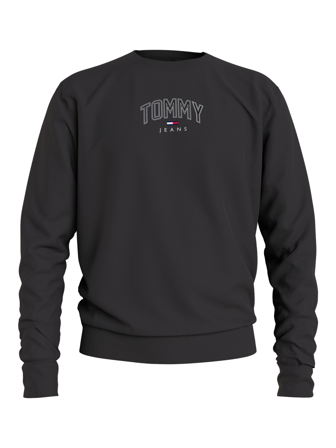 TOMMY JEANS - LIGHTWEIGHT CREW BLACK | Gate36 Hobro