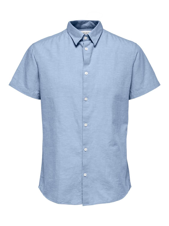 Selected Skjorte - SLHREGNEW-LINEN MEDIUM BLUE DENIM | Gate36 Hobro