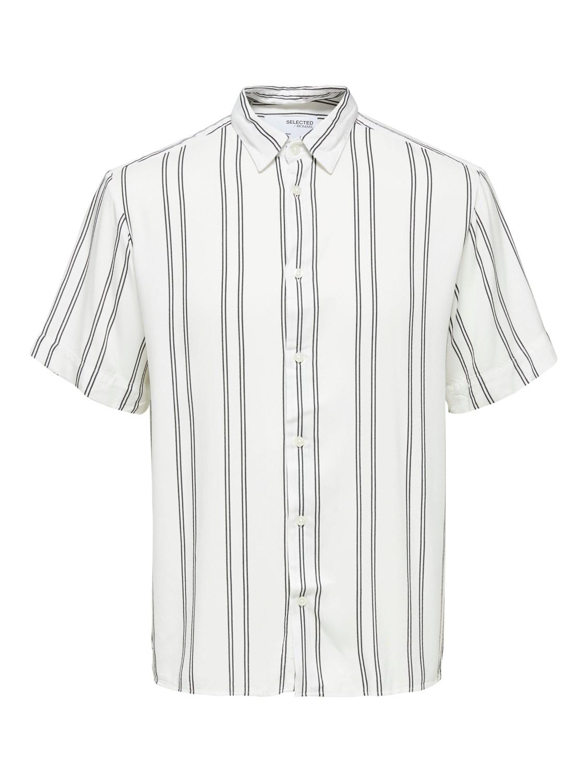 Selected Skjorte - SLHRELAXE BELORG BRIGHT WHITE STRIPES Gate36 Hobro