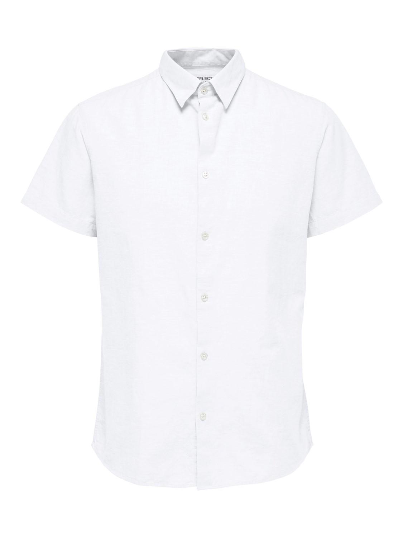 Selected Skjorte - SLHREGNEW-LINEN WHITE | Gate36 Hobro