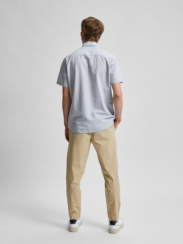 Selected Skjorte - SLHREGNEW-LINEN SEA SPRAY STRIPES | Gate36 Hobro