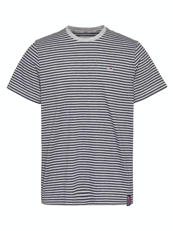 TOMMY HILFIGER - T-shirt Stripe Tab Navy/Grey | GATE 36 HOBRO