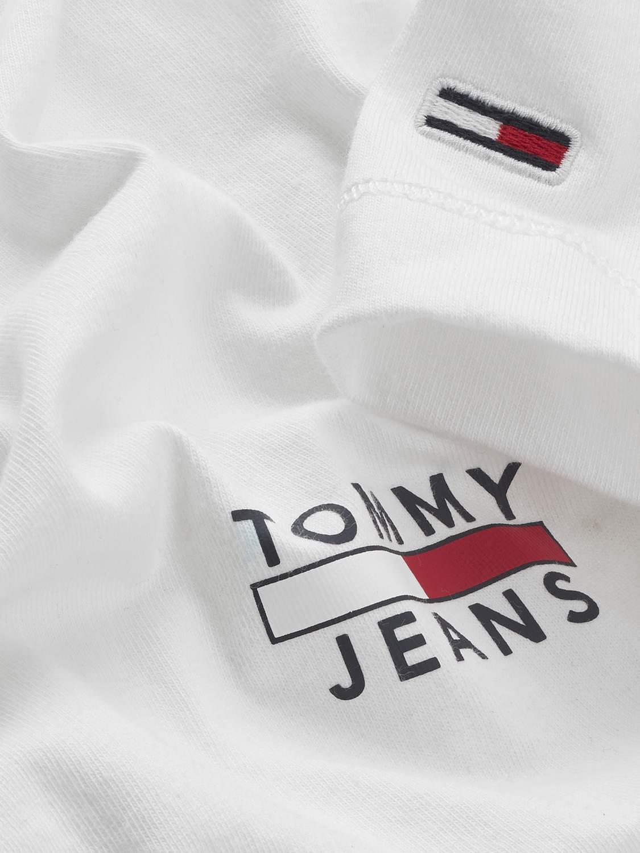 TOMMY HILFIGER T-SHIRT CHEST LOGO WHITE | GATE 36 HOBRO
