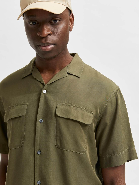 Selected Skjorte - SLHRELAXBIL Army | GATE 36 Hobro