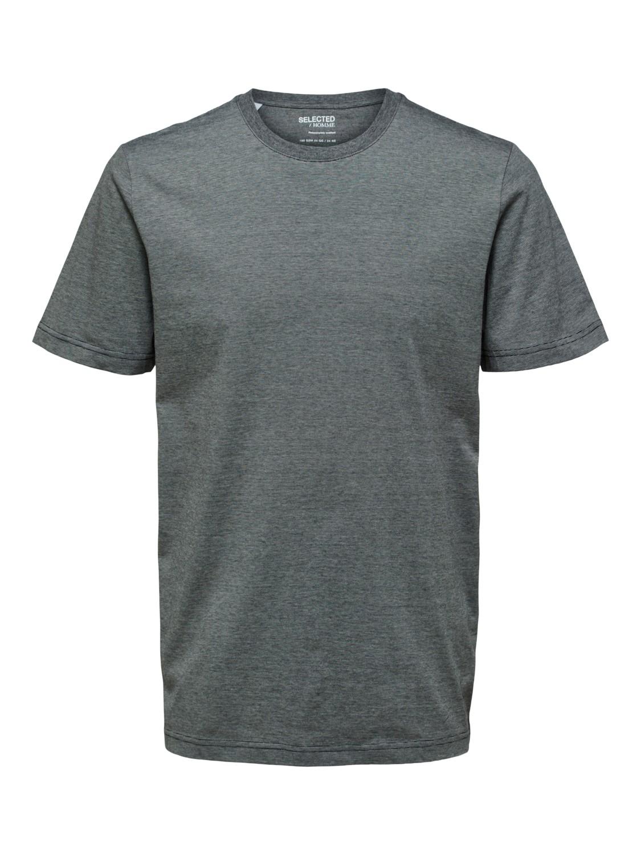Selected - T-shirt O-neck black/ light grey | Gate36 Hobro