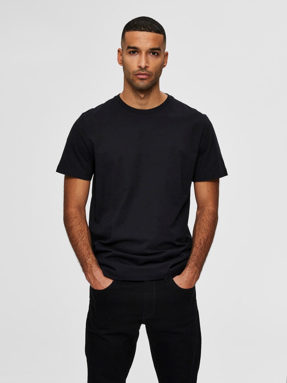 Selected - T-shirt o-neck Black | Gate36 Hobro