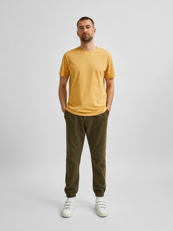 Selected - T-shirt O-neck wood thrush/melange   Gate36 Hobro