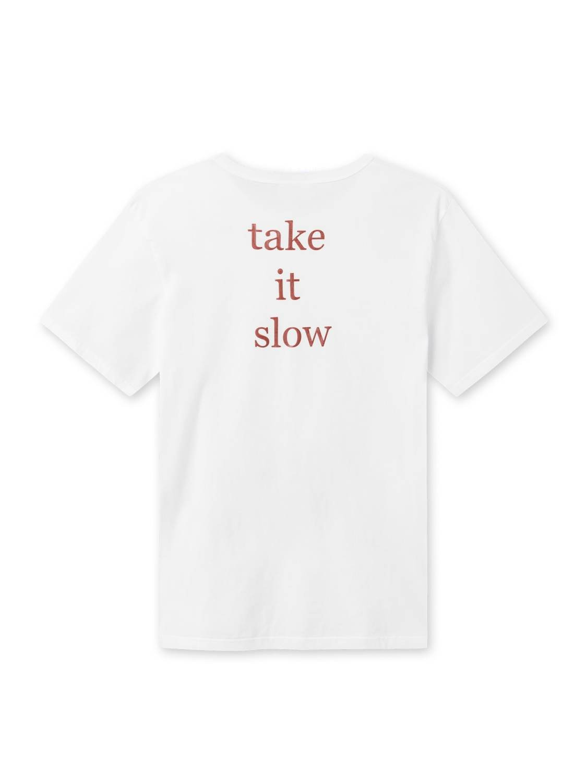 FORÉT - Book T-Shirt white/ burnt red | GATE 36 Hobro