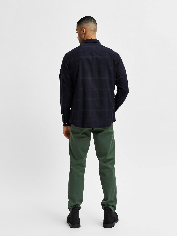 Selected Skjorte - slhslimflannel shirt darkest spruce big check | Gate36 Hobro