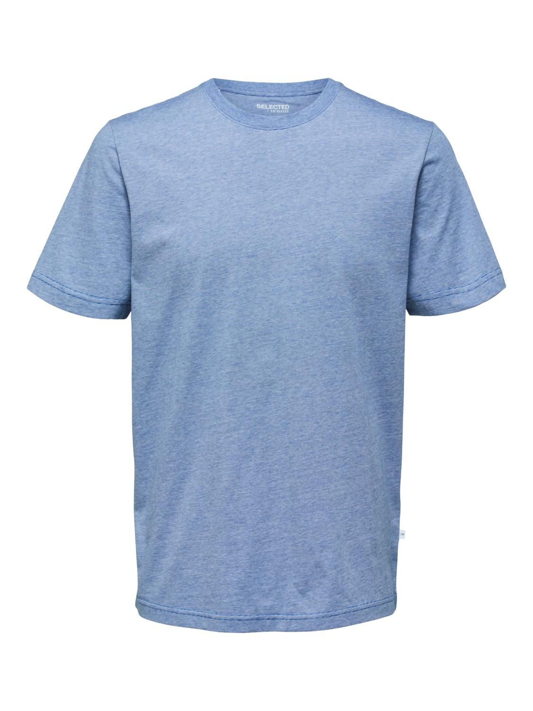 Selected - T-shirt o-neck stripes limoges/ bright whi | Gate36 Hobro