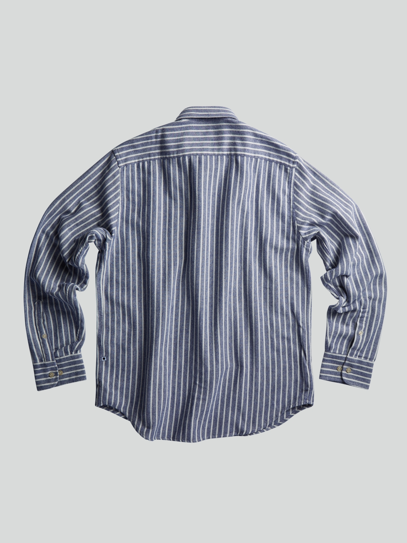 NN07 Skjorte Errico Blue Stripe   GATE 36 HOBRO