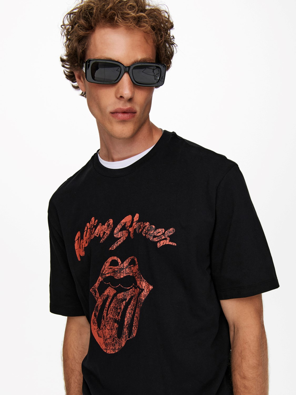 Only & Sons T-Shirt onsstones life reg black | Gate36 Hobro