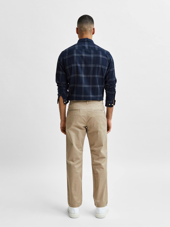 Selected Chino´s stoke flex pants sand | Gate36 Hobro