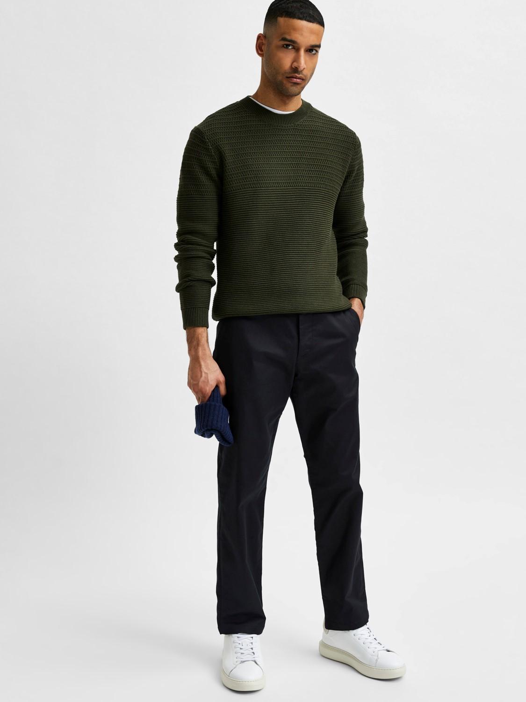 Selected Chino´s stoke flex pants black | Gate36 Hobro