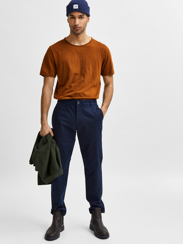 Selected Chino´s stoke flex pants Navy | Gate36 Hobro