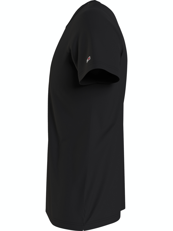 TOMMY HILFIGER T-SHIRT ESSENTIAL GRAPHIC BLACK | GATE 36 HOBRO