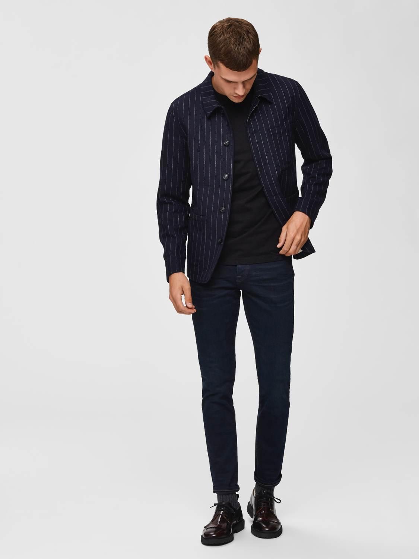 Selected Jeans - Slim Leon 6155 Blue Black Denim | GATE 36 HOBRO