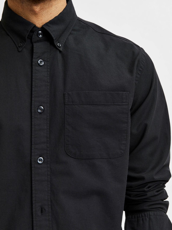 Selected Skjorte - Slhsregrick-ox Black   GATE 36 HOBRO