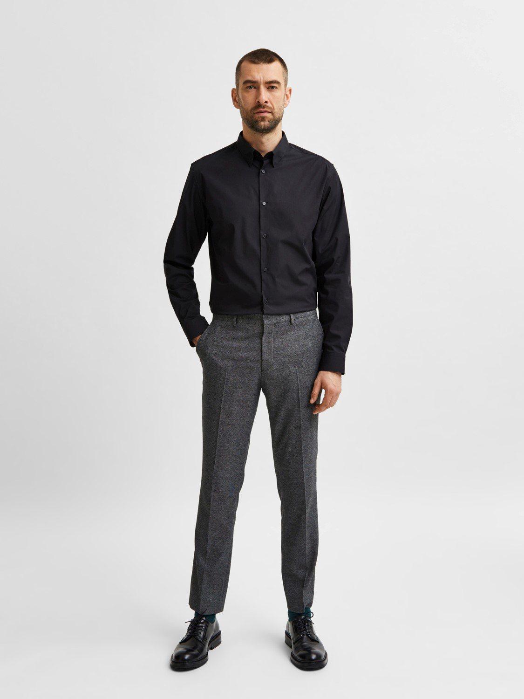 Selected Skjorte - Slim Michigan Black | GATE 36 HOBRO